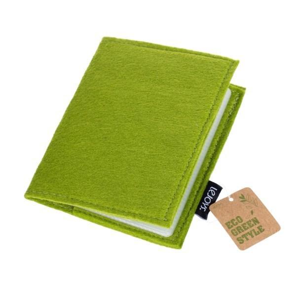Визитница, Lejoys, Felt, зеленая, 110*140 мм