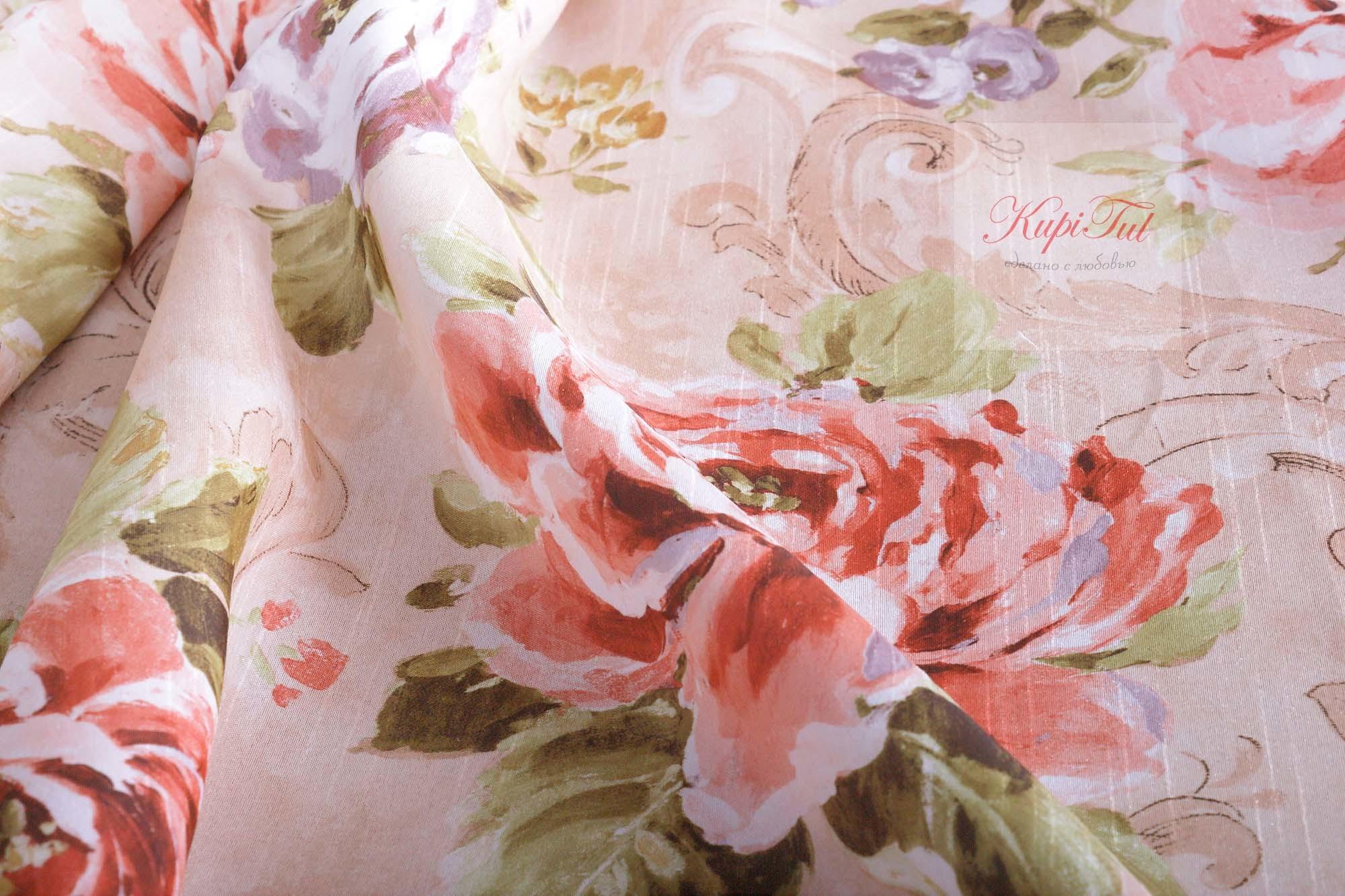 Розалия. Легкие шторы с принтом
