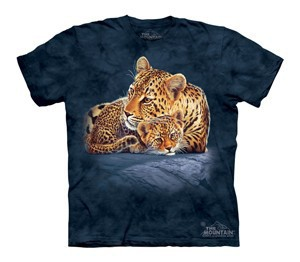 Футболка детская Mountain с изображением леопардов - Leopard and Cub
