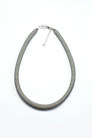 Ожерелье Maglia Nero Argento (бисерный жгут серебристый)