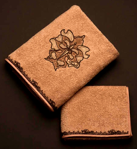 Полотенце 100х150 Cesare Paciotti Libellula розовое