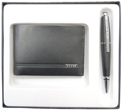 Набор подарочный Cross, 2 пр. Состав набора: портмоне и ручка.
