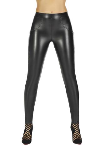 Легинсы «под кожу» черные с эффектом super push-up