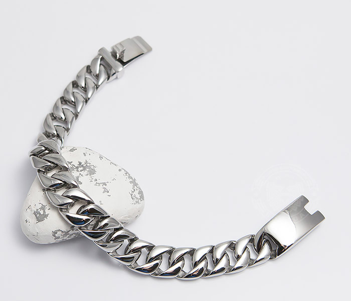 BM467-1 Классический браслет цепь из ювелирной стали (23 см) фото 02