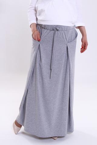 Юбка для беременных 06718 серый
