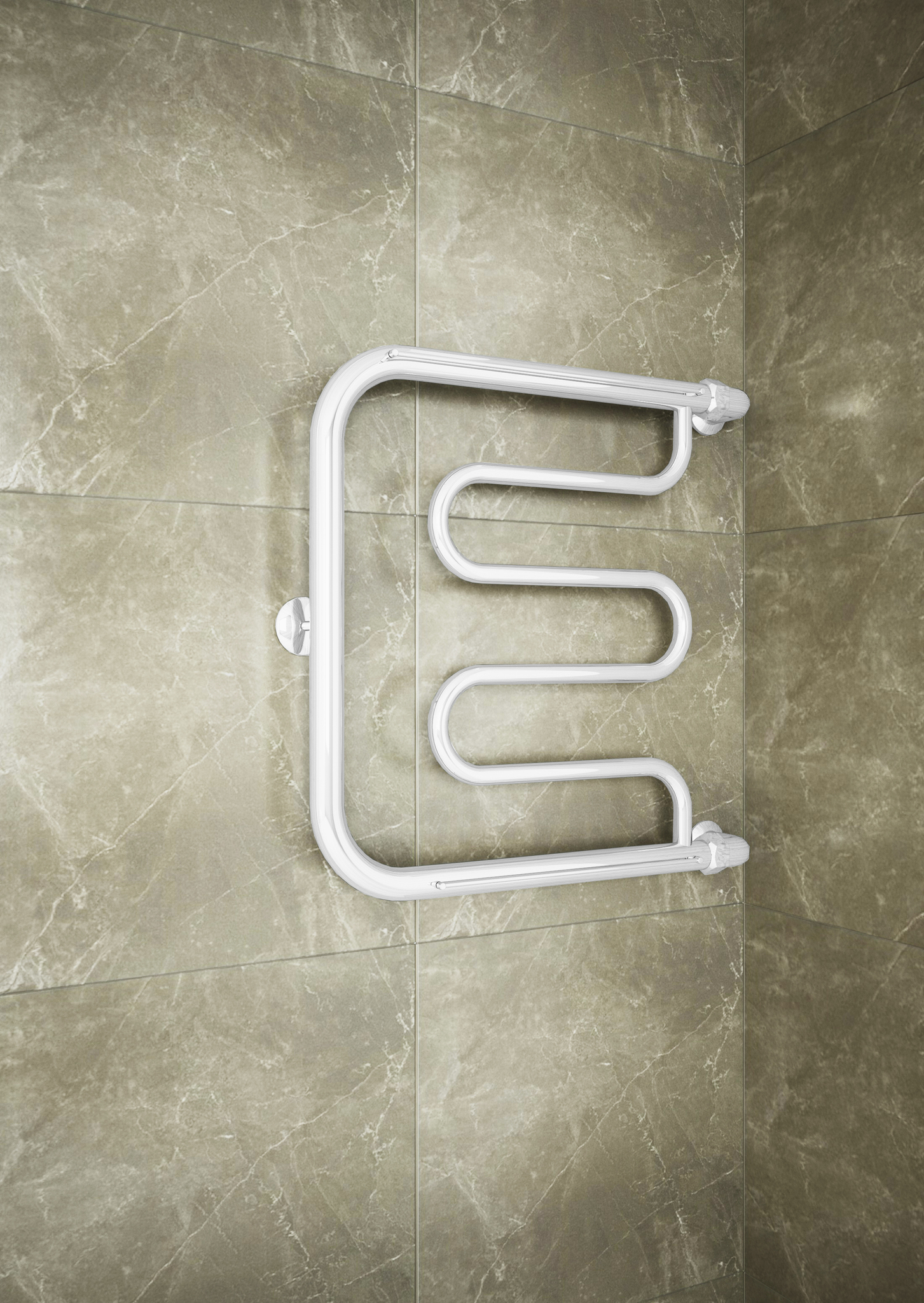 Foxtrot  White - водяной полотенцесушитель  с боковым подключением белого цвета.