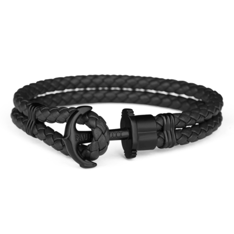 Leather Bracelet Total black