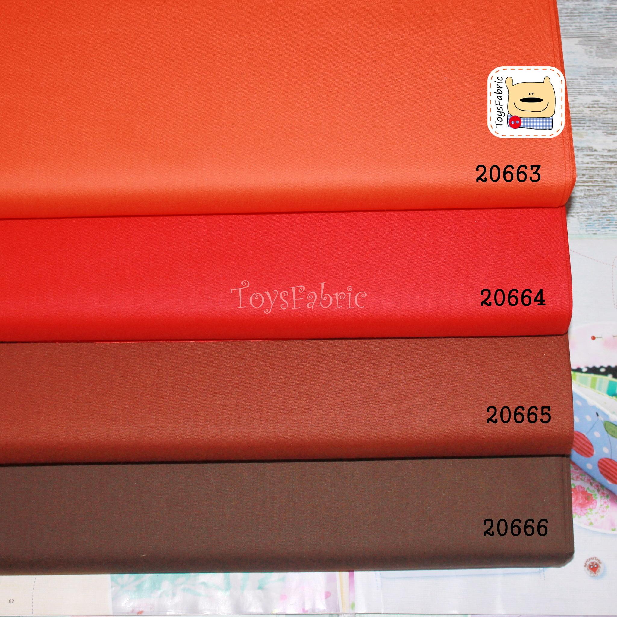 Ткань для пэчворка 20665 (однотонный коричневый) 45х55см