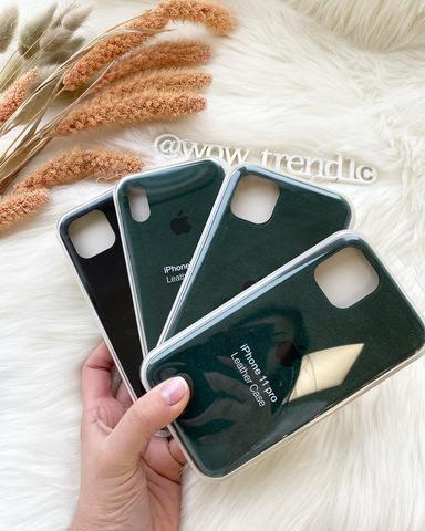 Чехол iPhone 11 Alcantara case full /green/