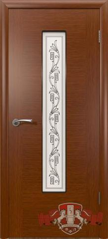 Дверь Владимирская фабрика дверей 8ДО2, цвет макоре, остекленная