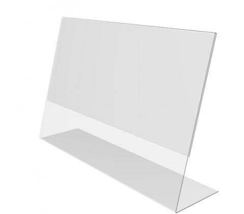 Ценникодержатель PVC-PRICER 40х30,  из ПВХ L-образный, горизонтальный