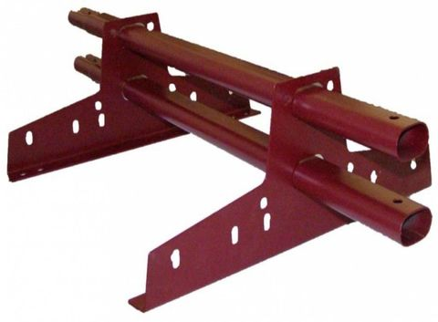 Снегозадержатель трубчатый универсальный 3м (RAL 3005-винно-красный)