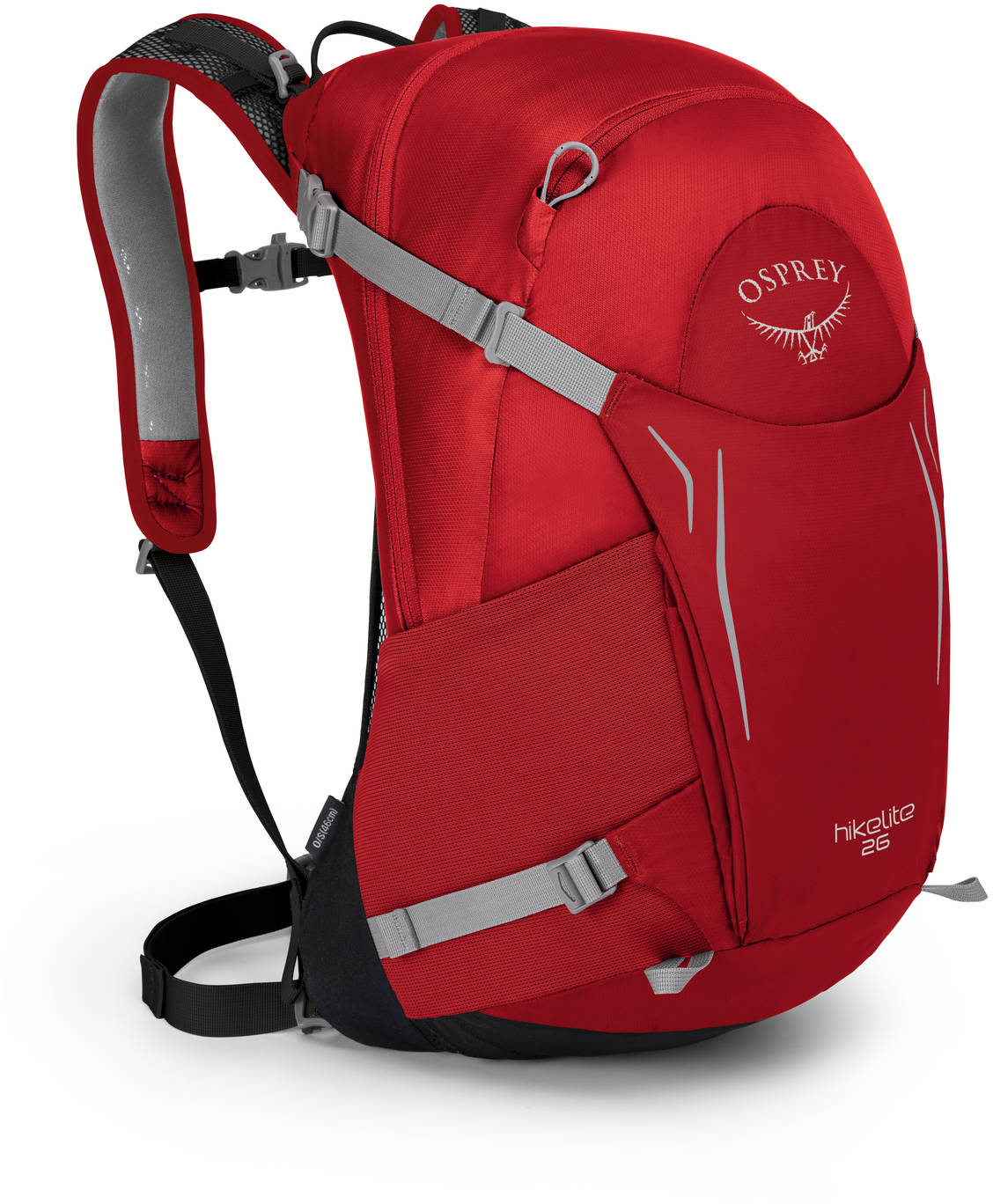 Туристические рюкзаки Рюкзак Osprey Hikelite 26 TOMATO RED HIkelite26_S18_Side_TomatoRed_web.jpg