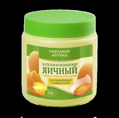 Iris Народная аптека  Бальзам-кондиционер Яичный для окрашенных и тонких волос 500мл