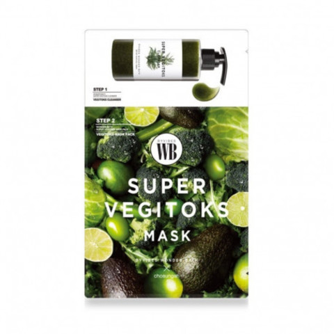 Детокс маска Super Vegitoks Mask Pack-Green от Wonder Bath