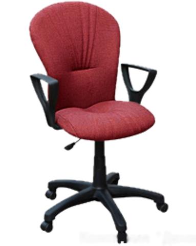 Кресло ВАРНА газлифт ткань красно-черная