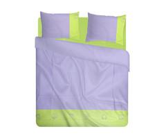 Детское постельное белье German Grass Kinder Аvgustin фиолетово-зеленое вышивка