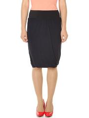 U091-89 юбка женская, темно-синяя