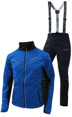 Детский утеплённый лыжный костюм Nordski Premium 2018 Blue-black