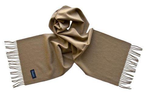 Шерстяной шарф, мужской темно-бежевый 29003