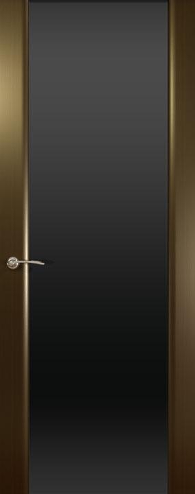 Шторм-3 ДО, Венге(черное стекло), Дверное полотно, ОКЕАН