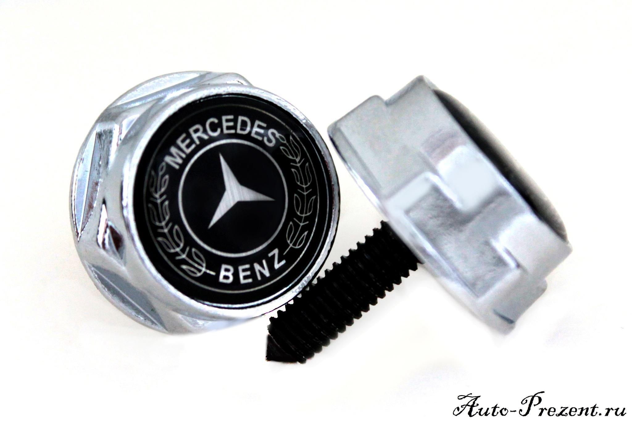 Болты для крепления госномера с логотипом MERCEDES-BENZ