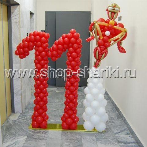 Цифра 11 из воздушных шаров Железный Человек