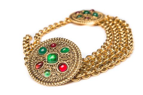 Пояс Chanel из металла цвета желтого золота