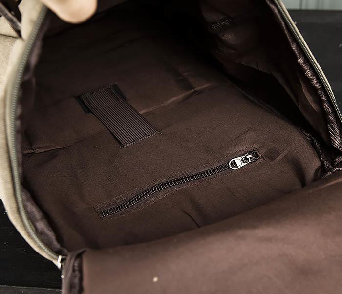 BAG309-3 Мужская сумка сумка рюкзак из плотного текстиля фото 09