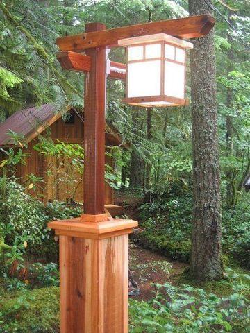уличный светильник - столбик