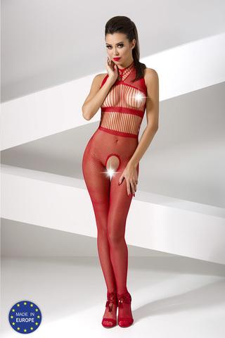 Завораживающий боди-комбинезон сетка красный