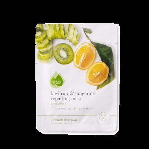 Тканевая маска для лица восстанавливающая Киви & Танжерин Skinfood, 12 гр