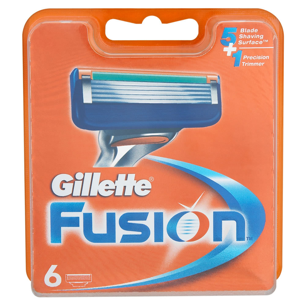 Сменные лезвия Gillette Fusion 6 шт