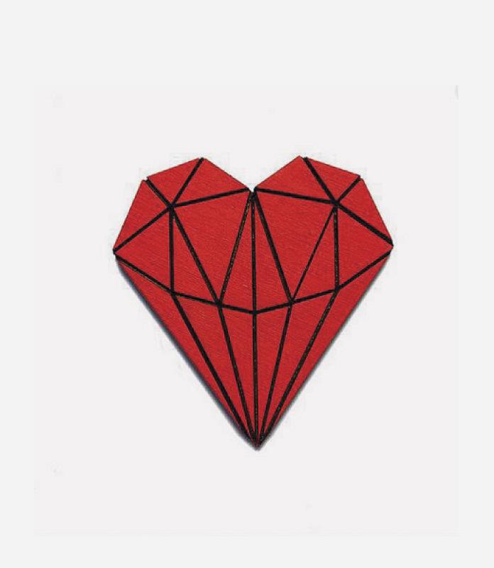 Брошь Сердце Кристалл