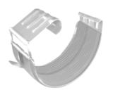 Соединитель желоба ф125 (RAL 9003)