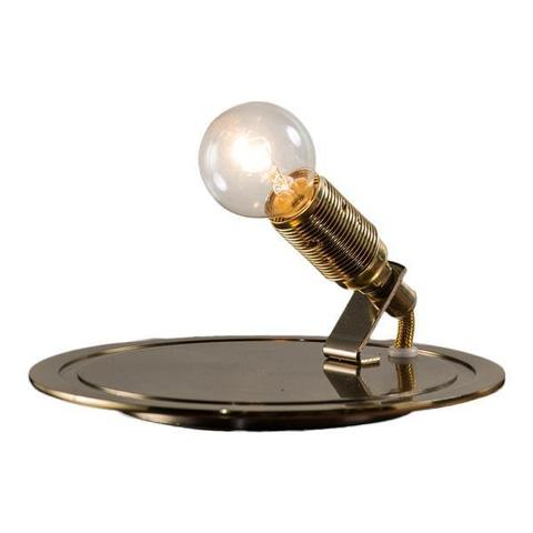 Ebb & Flow DI101689+LA101720 — Настольный светильник Glow in a Dome Lamp - Brass with Clear - 21 см