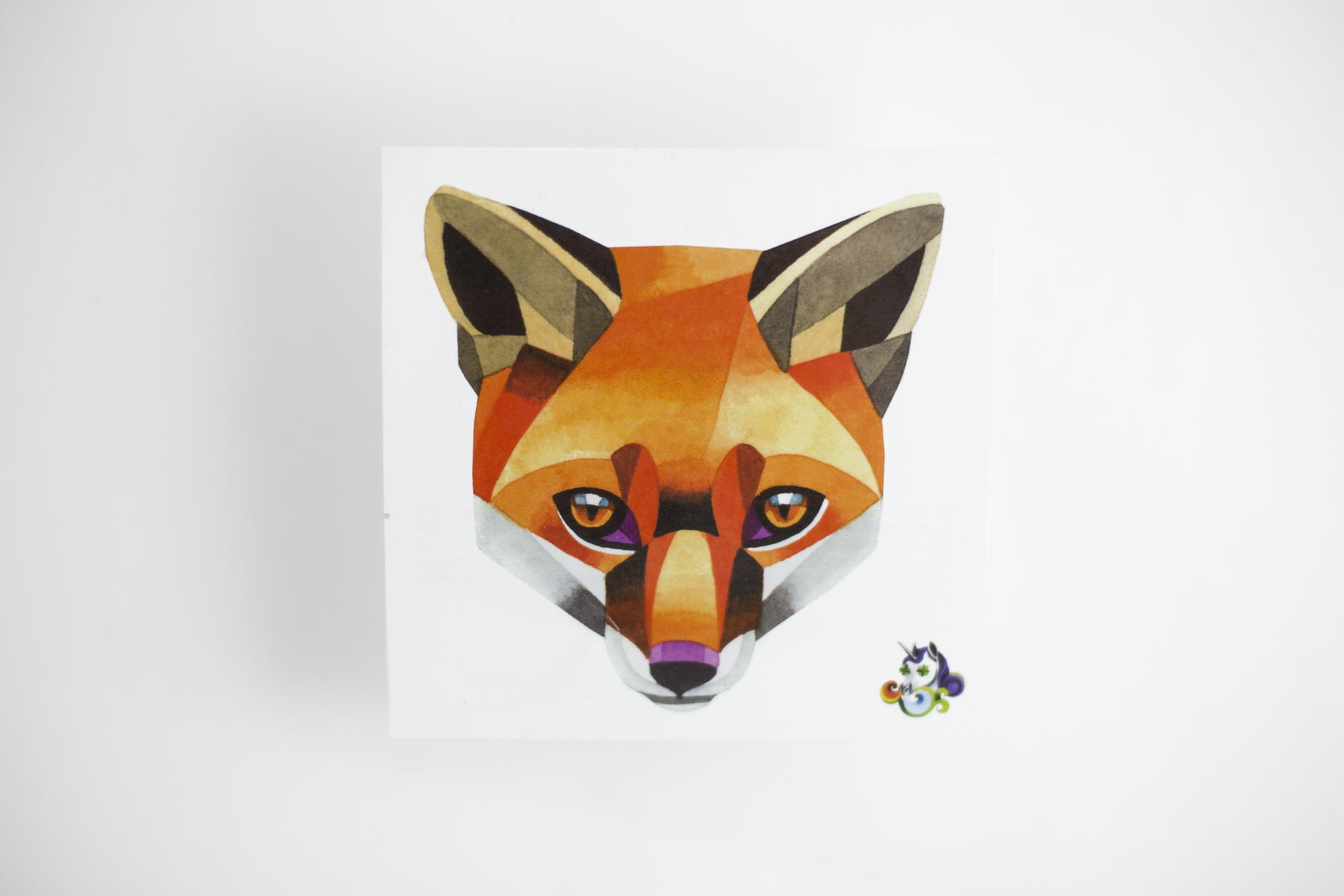 Переводная татуировка Red fox