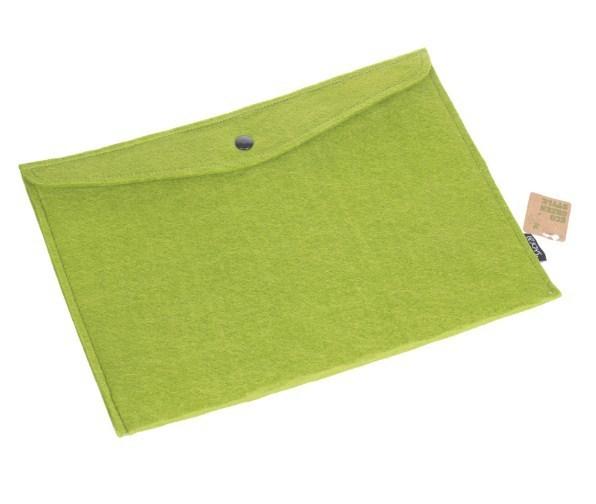Папка на кнопке, Lejoys, Felt, зеленая, 345*245 мм