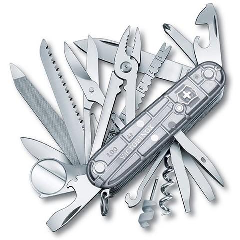 Складной многофункциональный нож Victorinox SwissChamp SilverTech (1.6794.T7) 91 мм., 31 функция, серебристый полупрозрачный - Wenger-Victorinox.Ru