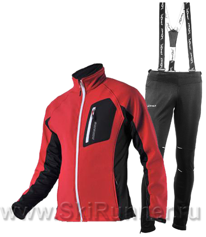 Лыжный утепленный костюм Noname Keep Moving Premium Red