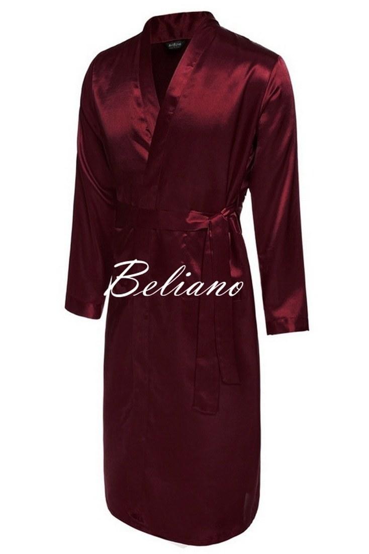 ff58b9ba4b68e Шелковый мужской халат бордового цвета, натуральный итальянский шелк, купить