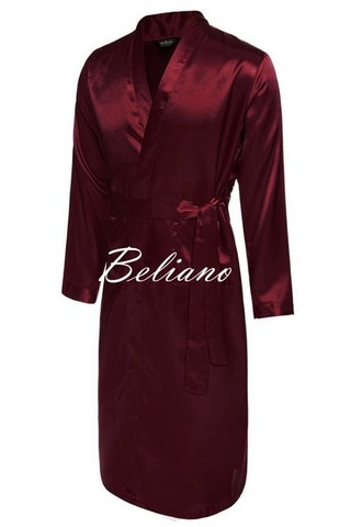 Шелковый мужской халат бордового цвета, натуральный итальянский шелк, купить
