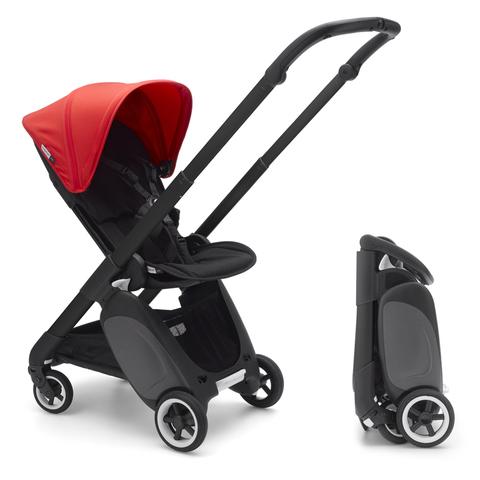 Коляска прогулочная для путешествий Bugaboo Ant Black/Black-Neon Red
