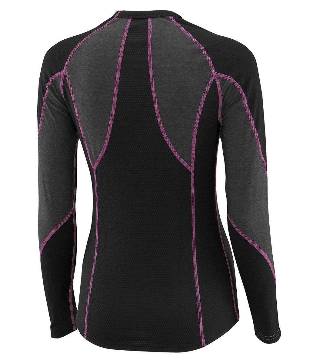 Женское термобелье рубашка Mizuno Virtual Body Crew black|grey (73CL041 86) фото