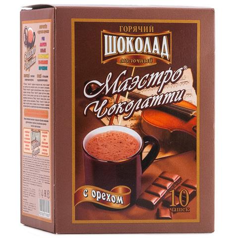 "Горячий шоколад""Маэстро Чоколатти"" с орехом 10*25гр"
