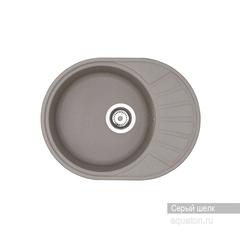 Мойка Акватон Чезана 1A711232CS250 для кухни из искусственного камня, серый шелк