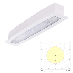 Встраиваемый светодиодный аварийный светильник Suprema LED SO PT IP54 Intelight