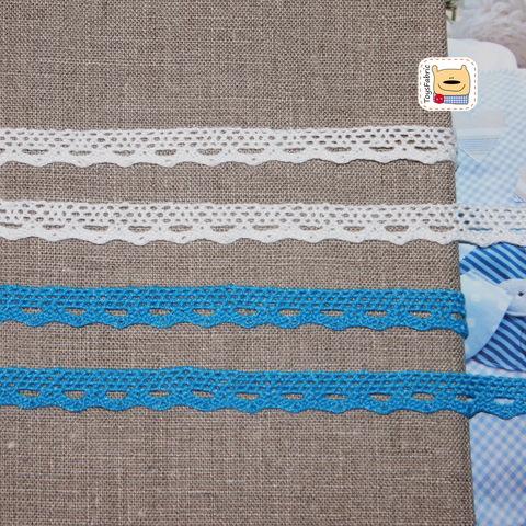 Кружево вязаное КХ8-Г (голубое) 90см