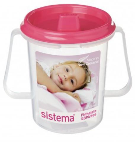 Детская чашка Sistema с носиком, розовая 250 мл