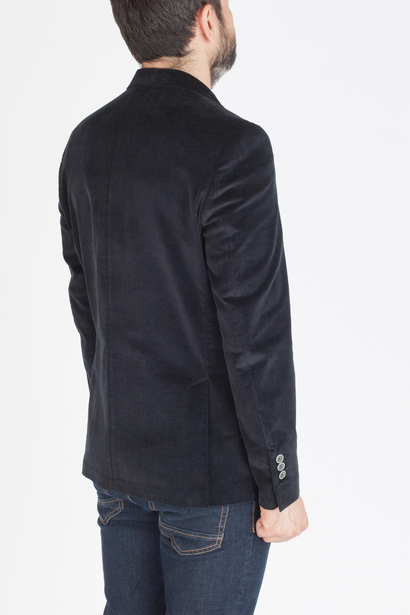 Тёмно-синий вечерний велюровый пиджак